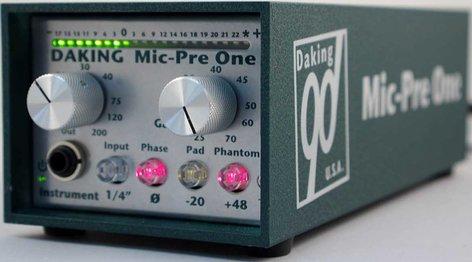 Daking Pro Audio MIC-PRE-ONE Mic Preamp, Class A Fully Discrete, Jensen Transformer MIC-PRE-ONE