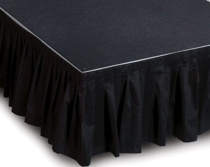 "IntelliStage ISSK8X24 8' W x 24"" L Black Stage Skirt ISSK8X24"