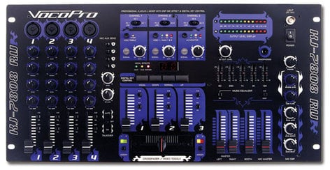 VocoPro KJ-7808RV  7 Ch KJ/DJ/VJ Mixer  KJ-7808RV