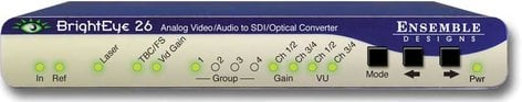 Ensemble Designs BE-26  Analog Video/Audio to SDI/Optical Converter with TBC and Embedder BE-26