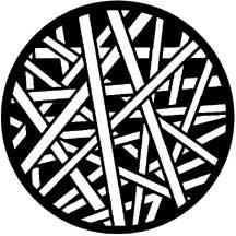 Rosco 71018 Gobo Cross Stripes 71018