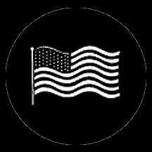 Rosco Laboratories 77122 American Flag Gobo 77122