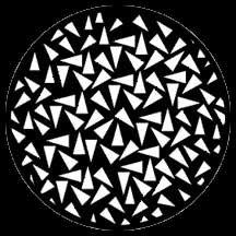 Rosco Laboratories 77642 Gobo Triangles Small 77642