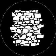 Rosco Laboratories 77951 Gobo Dry Stone Wall 2 77951