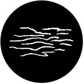 Rosco Laboratories 78484 Gobo Striped Gouge 78484