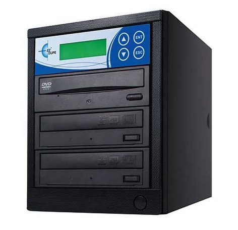 EZ Dupe EDL2 Disk-Lok 2 Target DVD/CD Duplicator, Copy Protected, Black EDL2