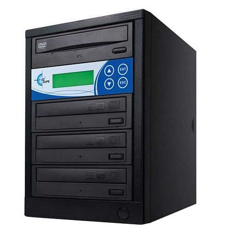 EZ Dupe EDL3 Disk-Lok 3 Target DVD/CD Duplicator, Copy Protected, Black EDL3