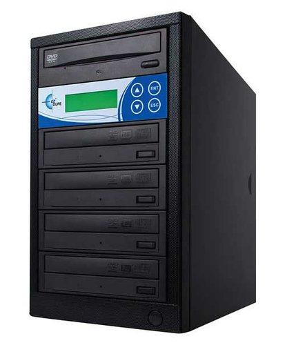 EZ Dupe EDL4 Disk-Lok 4 Target DVD/CD Duplicator, Copy Protected, Black EDL4