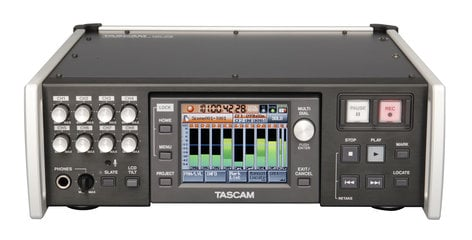 Tascam HS-P82 High-Resolution 8-Track Field Recorder with Dual Compact Flash Card Slots and Time Code HS-P82