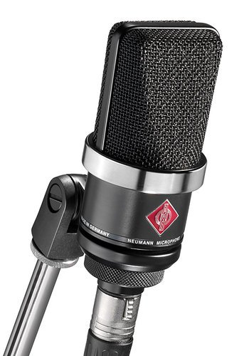 Neumann TLM 102 bk Large Diaphragm Cardioid Condenser Microphone in Matte Black Finish with SG 2 Swivel Stand Mount TLM102
