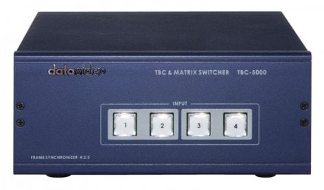 Datavideo Corporation TBC-5000  Time Base Corrector/Matrix Switcher, 4-In/Out TBC-5000