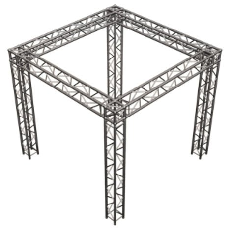 Global Truss SQ-10X10 Square Truss Tradeshow Booth Package SQ-10X10
