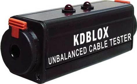 "RapcoHorizon Music KDBLOX Unbalanced 1/4"" Cable Tester BLOX KDBLOX"