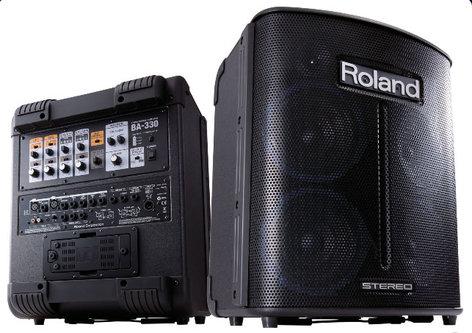Roland BA-330 Portable Battery Powered Digital Stereo PA System BA330