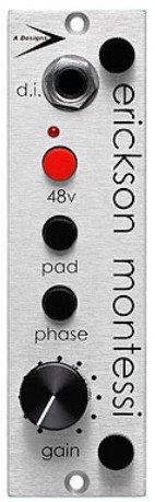 A-Designs EM-Silver 500 Series Preamp/DI Module with Darker Tone for Ribbon Microphones EM-SILVER