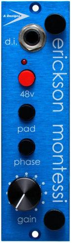 A-Designs EM-Blue 500 Series Preamp/DI Module with Top-End-Present Tone EM-BLUE