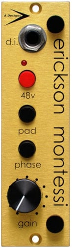 A-Designs EM-Gold 500 Series Preamp/DI Module for Fattening Thin-Sounding Sources EM-GOLD