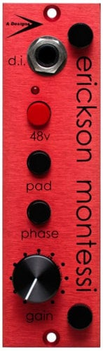 "A-Designs EM-Red 500 Series ""Mid-Forward"" Preamp/DI Module EM-RED"