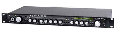 Grace Design M103-GRACE m103 1RU Channel Strip / Single Channel Microphone Preamplifier / 3-Band EQ / Optical Compressor M103-GRACE