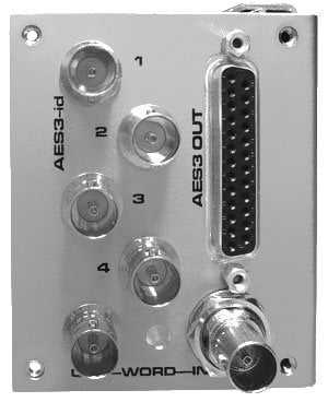 Grace Design M802A/D-AES 8-Channel A/D Option Module for M802 with 8-Channel AES3 Outputs on DB25, WC I/O, 1 Set of AES3-id Outputs on 4 BNC M802A/D-AES