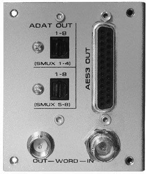 Grace Design M802A/D-ADAT 8 Channel A/D Option Module for M802 (not included) w/8ch AES3 on DB25, WC I/O, and 2x8 ch ADAT/Lightpipe outputs M802A/D-ADAT