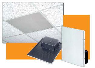 Bogen Communications ACD2X2 Speaker, Drop-In Ceiling, Amplified, Off White ACD2X2