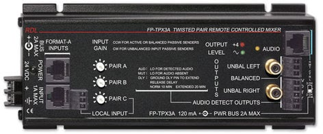Radio Design Labs FP-TPX3A Remote Controlled Mixer, Twisted Pair FP-TPX3A
