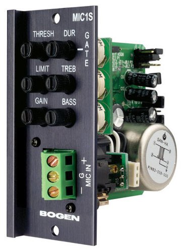 Bogen Communications MIC1S Transformer-Balanced Microphone Input Module with Screw Terminals MIC1S