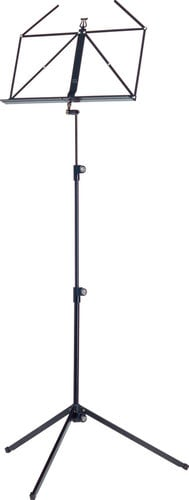 K&M 100/1-BLACK 3-Piece Folding Music Stand in Black 100/1-BLACK