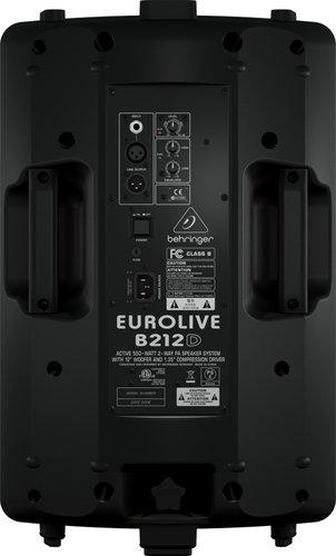 """Behringer EUROLIVE B212D 12"""" 2-Way 550W Peak Active Loudspeaker B212D-EUROLIVE"""