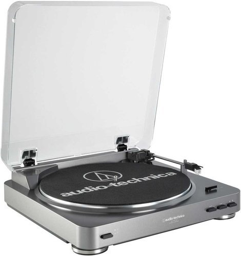 Audio-Technica AT-LP60-USB Fully Automatic Turntable with USB Output, Switchable Preamp, Cartridge, Audacity Software ATLP60-USB