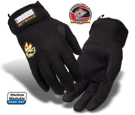 Setwear SW-05-009 Medium Black EZ-Fit™ Glove SW-05-009
