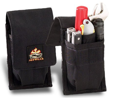 "Setwear SW-05-528 Black 8"" x 4"" Mini Tool Pouch SW-05-528"