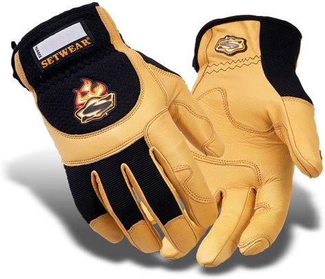 Setwear SWP-09-010 Large Tan Pro Leather Gloves SWP-09-010