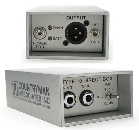 Countryman DT10 Type 10 FET Direct Box DT10-COUNTRYMAN
