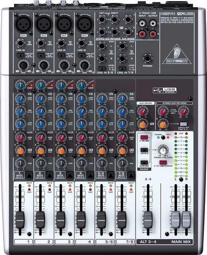 Behringer XENYX-1204USB Mixer, 12 Input, 2/2 Bus, USB, energyXT2.5 Software XENYX-1204USB