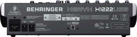 Behringer XENYX-X1222USB 16 Input Mixer with 2/2 Bus, USB, energyXT2.5 Software, 24-bit Multi-FX Processor XENYX-X1222USB