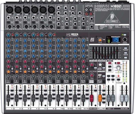 Behringer XENYX-X1832USB Mixer, 18 Input, 3/2 Bus, USB, energyXT2.5 Software, 24-bit Multi-FX Processor XENYX-X1832USB