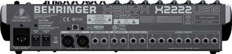 Behringer XENYX-X2222USB Mixer, 22 Input, 2/2 Bus, USB, energyXT2.5 Software, 24-bit Multi-FX Processor XENYX-X2222USB