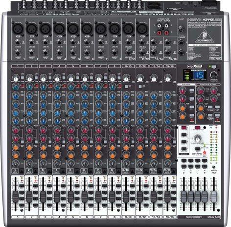 Behringer XENYX-X2442USB 24 Input Mixer, 4/2 Bus, USB, energyXT2.5 Software, 24-bit Multi-FX Processor XENYX-X2442USB