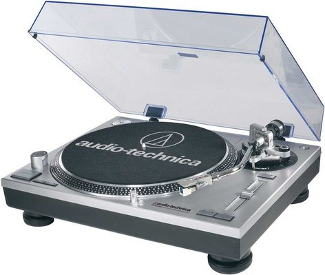 Audio-Technica AT-LP120-USB Direct Drive Professional Turntable with USB & Analog Output, in Silver ATLP120-USB
