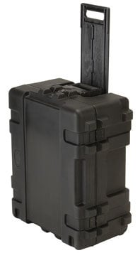 SKB Cases 3R2217-10B-CW Roto Mil-Std Waterproof Case, 22 x 17 x 10, Cubed Foam, Wheels 3R2217-10B-CW