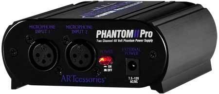 ART PHANTOM-2PRO Phantom Power Supply, 2 Channel PHANTOM-2PRO