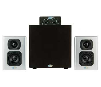 Blue Sky EXO2 Stereo Monitoring System, 2 Satellite Speakers, 1 Subwoover and Desktop Controller EXO2