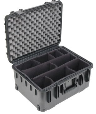 """SKB Cases 3I-2015-10BD Mil-Std Waterproof Case 10"""" Deep (w/ dividers, wheels and pull handle) 3I-2015-10BD"""