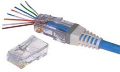 BTX Technologies CD-EZRJ456 Cat6 EZ-Terminating Cable Cable Mount, Bag of 100 CD-EZRJ456