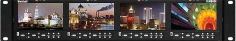 "Marshall Electronics V-MD434-3GSDI Four 4.3"" Widescreen Monitors Rack Unit (with 3G/HD/SDI Inputs) V-MD434-3GSDI"