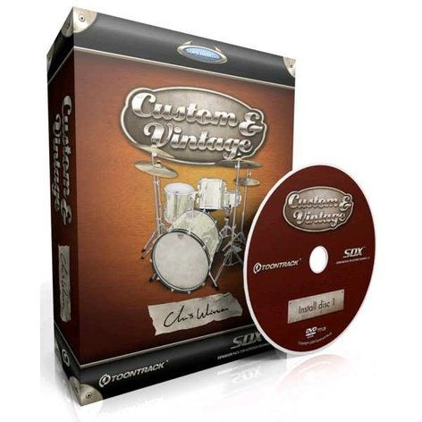 Toontrack CUSTOM-VINTAGE-SDX Custom & Vintage SDX Expansion Pack, Boxed Version CUSTOM-VINTAGE-SDX