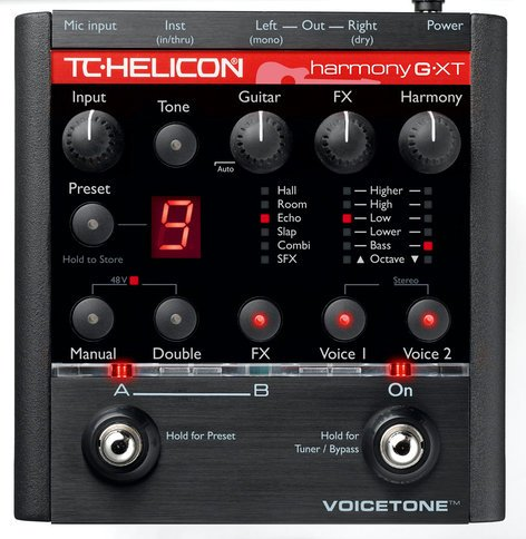 TC Helicon VoiceTone Harmony-G XT Vocal Harmony Pedal VOICETONE-HARM-G-XT