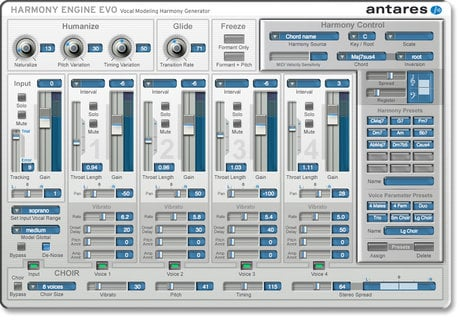 Antares HARMONY-ENGINE-EVO  PlugIn Vocal Harmony Modeling  HARMONY-ENGINE-EVO